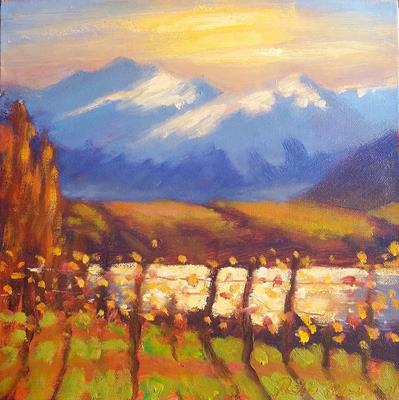 Autumn Vines, Wanaka (small) by Philip Beadle