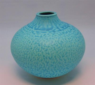 Copper Blue Vase by Danny Moorwood